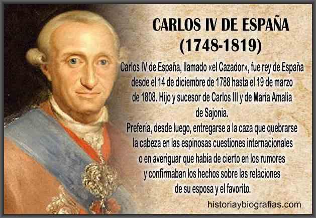 Rey Carlos IV de España Biografia
