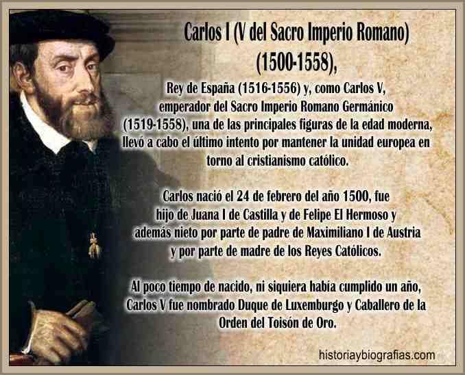 Biografia Carlos I de España Carlos V de Alemania Guerra