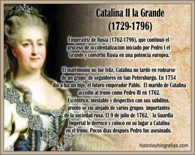 Biografia de Catalina de Rusia La Grande Resumen de su Vida ...