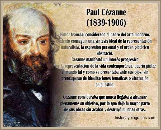 Biografia de Cezanne Paul Vida y Obra Artistica