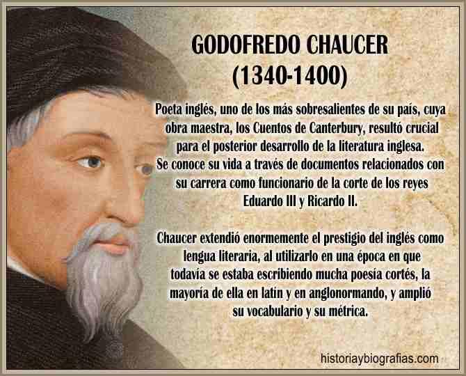 biografia de Chaucer Geoffrey