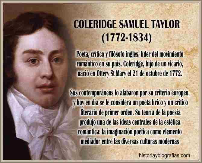 Biografia de Coleridge Samuel