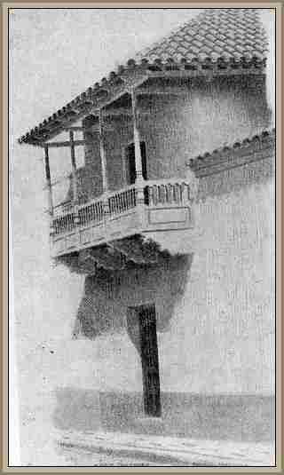 Balcon colonial de una casa en Salta