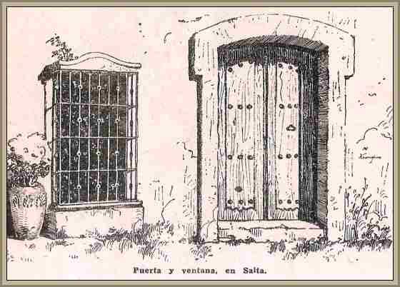 Puerta y ventana de una casa Colonial en el virreinato