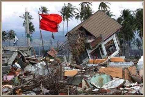 destrozos por desastre natural
