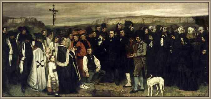 obra pictorica de courbet el entierro de Ornans