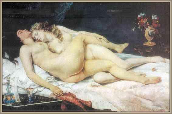 obra pictorica la siesta de courbet gustave