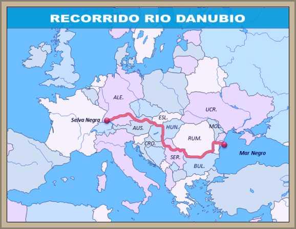 recorrido rio danubio mapa