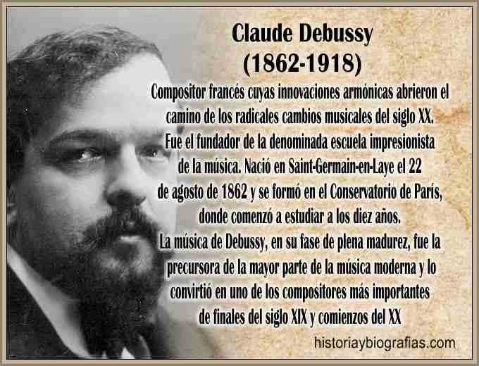 Biografia de Debussy Claude Compositor – Vida y Obra Artistica