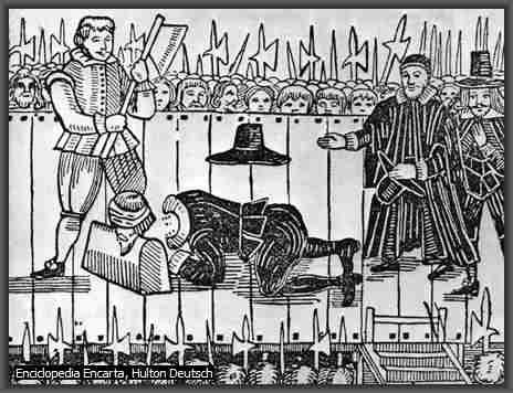 decapitacion de CArlos I de Inglaterra