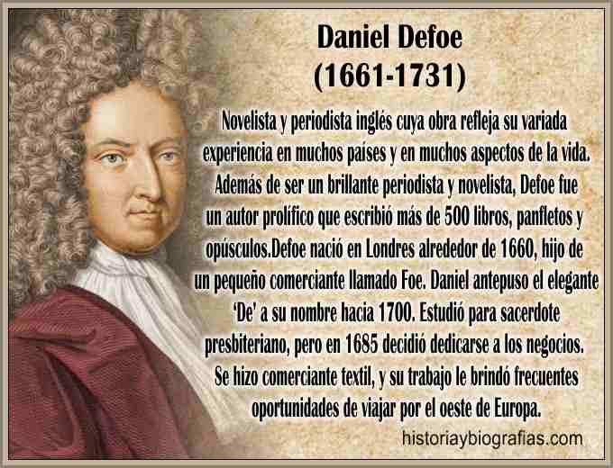Biografia del escritor Daniel Defoe.