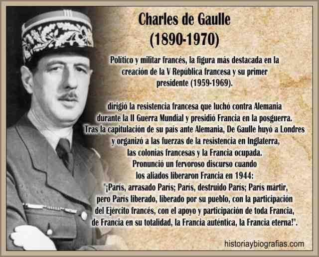Biografia de Charles De Gaulle Gobierno y Obra Politica Militar