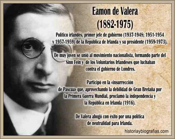 Biografia de Valera Eamon Desarrollo de su Vida Politica