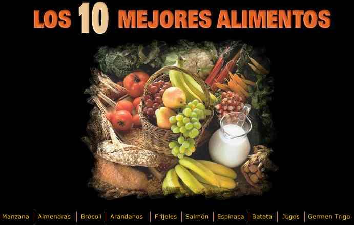 diez alimentos sanos para la salud