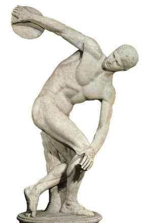 discobolo de miron en grecia antigua