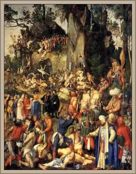 martirio de los cristianos durero