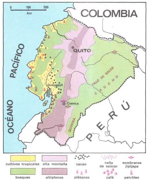 mapa geografia de ecuador