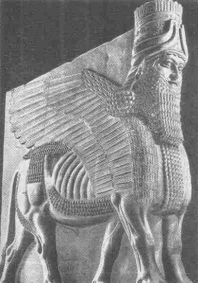 Toro Alado , escultura asiria