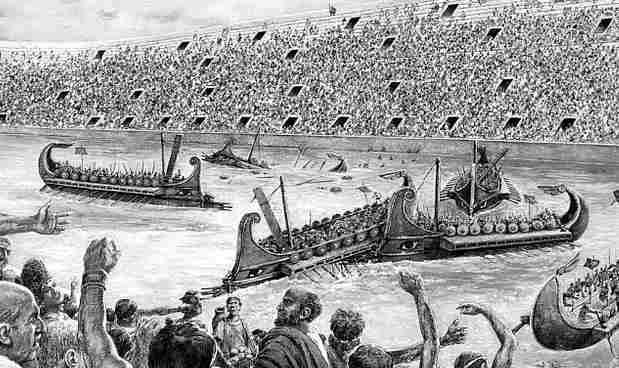 espectaculos navales en roma antigua