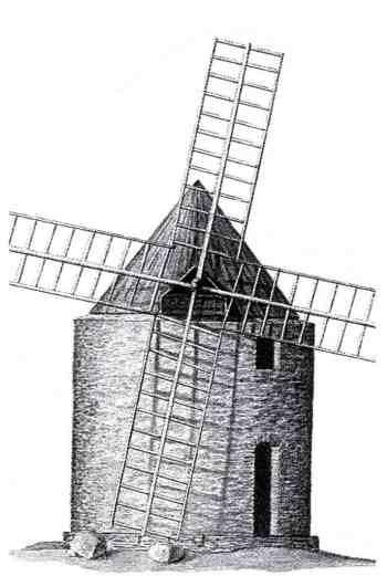 molino de viento primitivo
