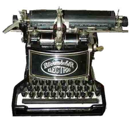 primera maquina de escribir electrica