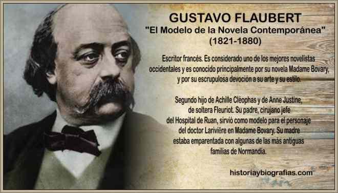 biografia de gustavo flaubert