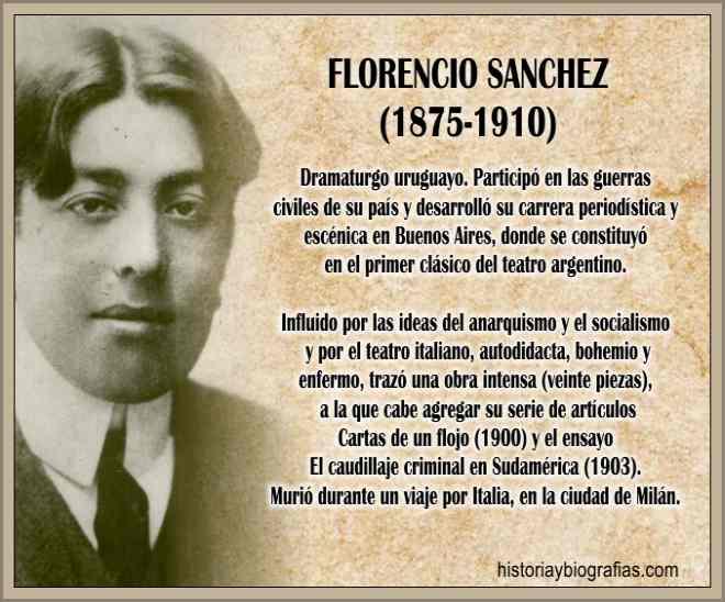 Vida y Obra Literaria de Florencio Sanchez