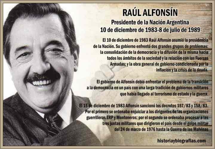 Raul Alfonsin presiendente de argentina