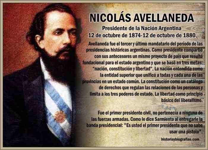 Gobierno de Nicolas Avellaneda:La Organizacion Nacional Liberal