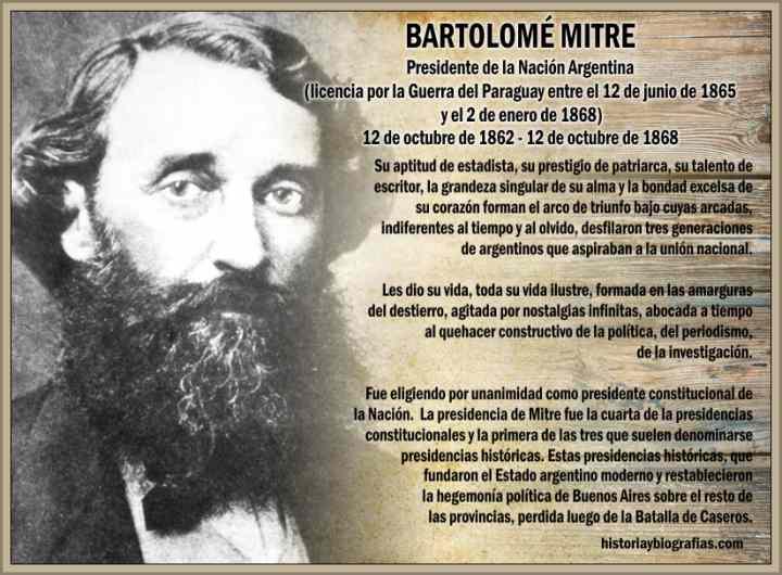 Bartolome Mitre Presidente de Argentina