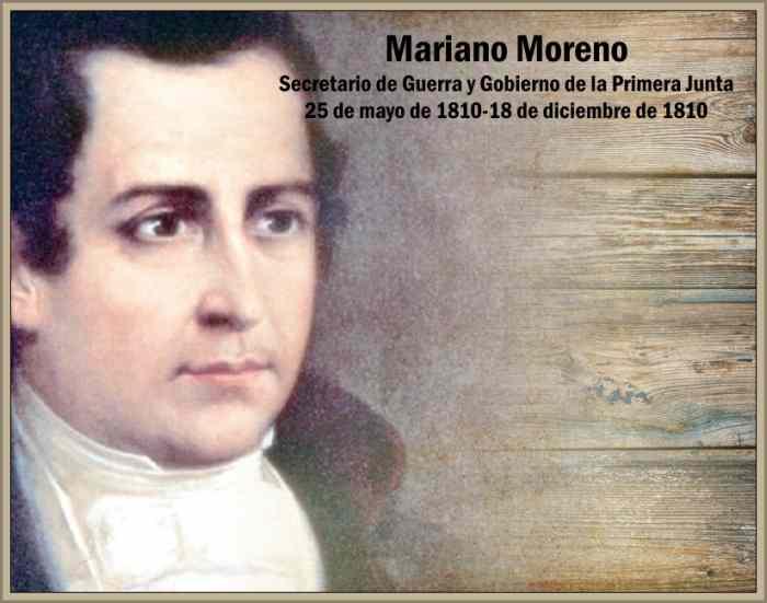 Biografia de Mariano Moreno Un Jacobino en la Primera Junta Patria ...