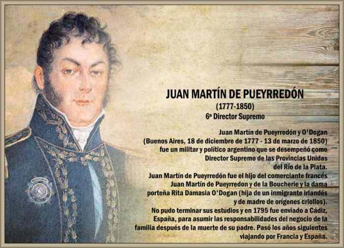 Biografía de Pueyrredón Juan Martín Vida Política y Logros ...