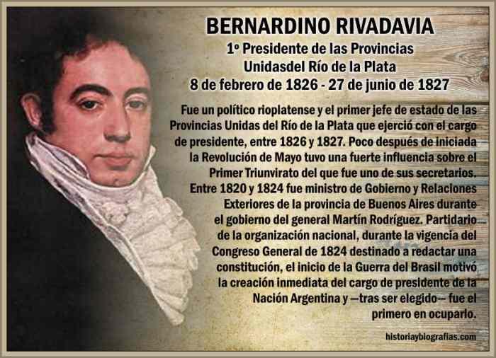 IDEAS PEDAGÓGICAS ARGENTINAS de BERNARDINO RIVADAVIA – BIOGRAFÍAS ...