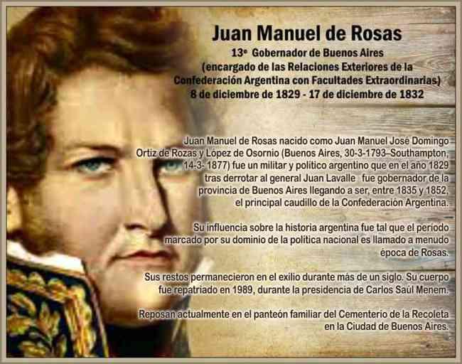 Biografia de Juan Manuel de Rosas Vida Política y Su Gobierno ...