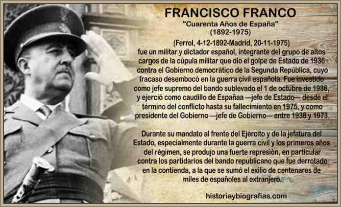 Francisco Franco Biografia Dictador La Dictadura en España