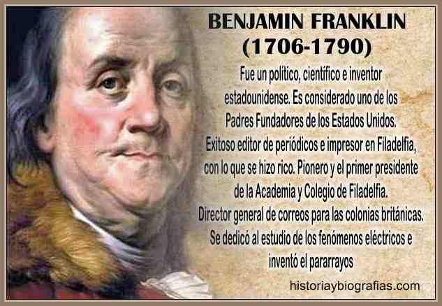 Biografia de Franklin Benjamin-Inventor del Pararrayos,Vida y Obra ...