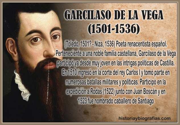 Biografia de Garcilaso de la Vega Vida y Obra Literaria