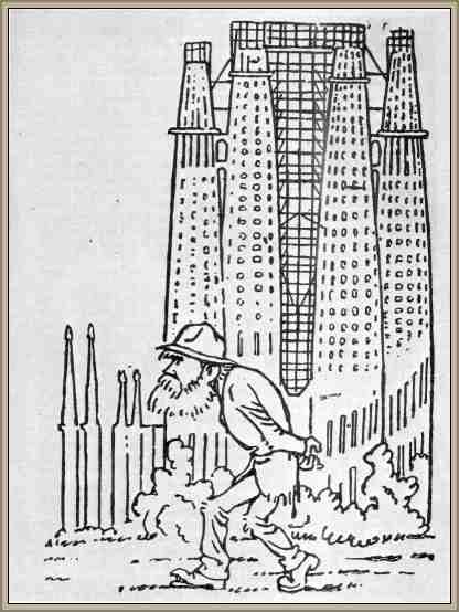caricatura de gaudi