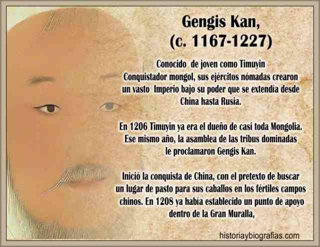 Biografia de Gengis Kan Conquistas y Expansion del Imperio