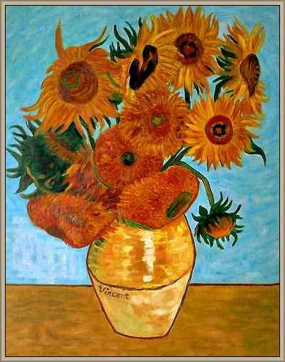 girasoles obra de arte de Van Gogh
