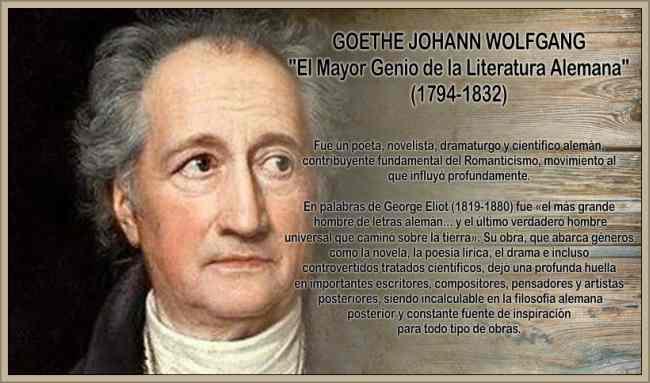 goethe wolfgand poeta aleman