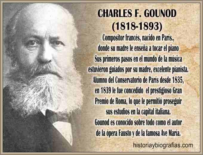 Biografia de Gounod Charles compositor