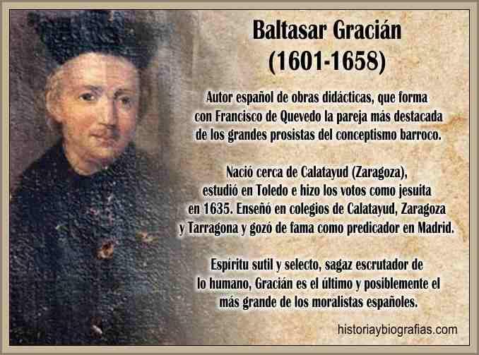 Baltasar Gracian Biografia y Obra Literaria
