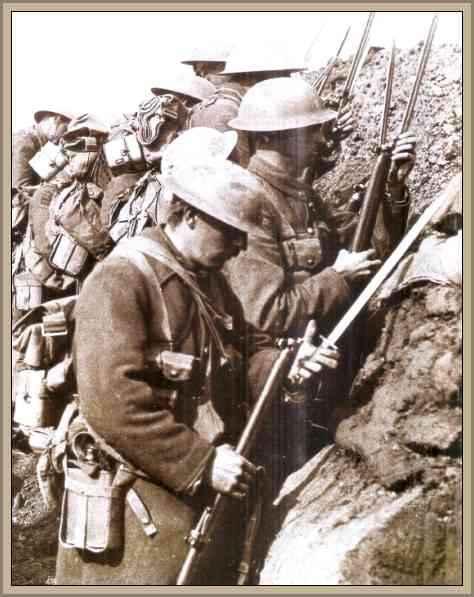 trincheras en la guerra mundial