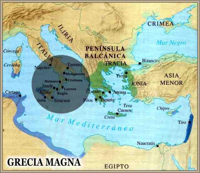 Magna Grecia Mapa