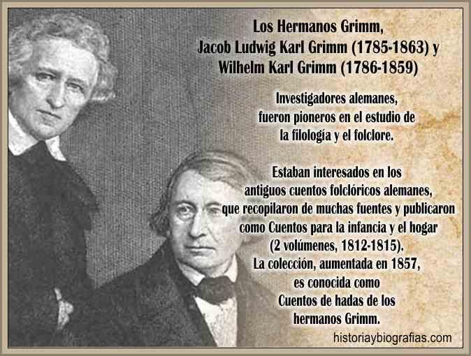 Biografia de los Hermanos Grimm - Vida y Obra Literaria