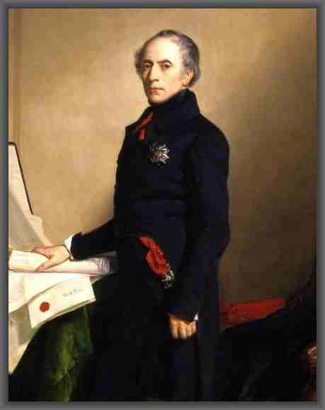 Francois Guizot,un historiador y político francés. Participó en el gobierno durante la monarquía de Luis Felipe de Orleans y fue líder de los doctrinarios.