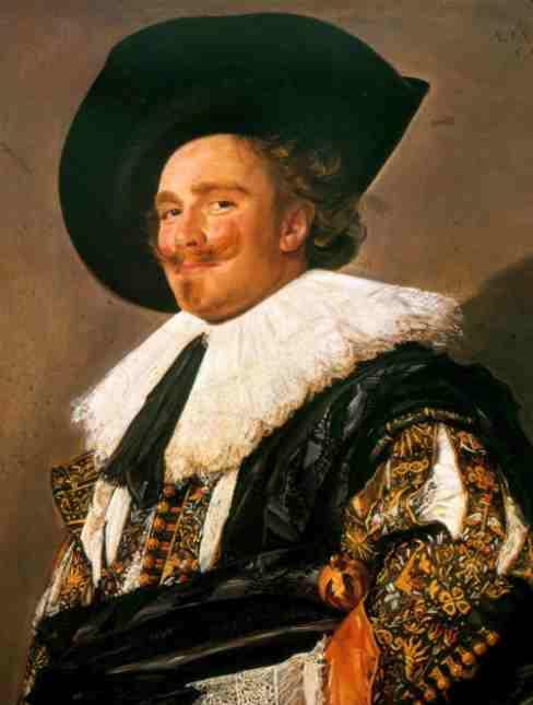 Caballero Sonriente obra artistica de frans hals