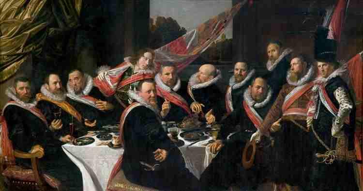 Banquete de los Arcabuceros- Frans Hals
