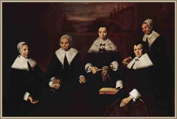 1664- Regentes del hospicio de ancianos - Frans Hals